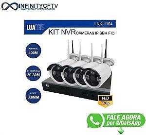 Kit Nvr 4 Câmeras LuaTek Wifi Sem Fio 400m Hd - Infinitycftv