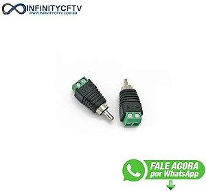 Conector Rca Macho Com Borne LKP-205-Infinity Cftv