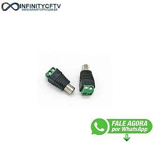 Conector Rca Femea Com Borne LKP-206-Infinity Cftv