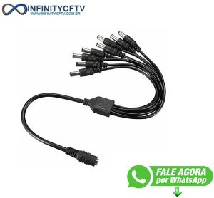 Cabo Conector Adaptador Rabicho 1x8 Para Camera Cftv 40cm LKP-128-Infinity Cftv