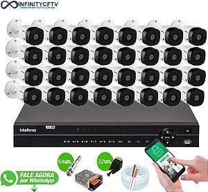 Kit Intelbras 32 Câmeras HD 720p VHL 1120 B + DVR 1132 Intelbras - InfinityCftv