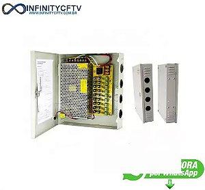 RACK PARA CFTV COM FONTE CHAVEADA 12V 10A LKF-1009-Infinity Cftv