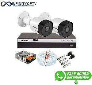 Kit 2 Câmeras de Segurança Full HD 1080p VHD 3230 B G6 + DVR Intelbras MHDX 3104 Full HD de 4 Canais + Acessórios - InfinityCftv