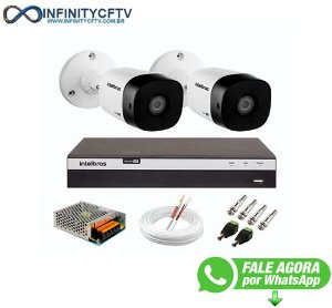 Kit 2 Câmeras de Segurança Full HD 1080p VHD 1220 B G6 + DVR Intelbras MHDX 3104 Full HD de 04 Canais - InfinityCftv