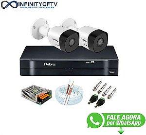 Kit 2 Câmeras de Segurança Full HD 1080p VHD 3230 B G6 + DVR Intelbras MHDX 1104 1080p de 4 Canais - InfinityCftv