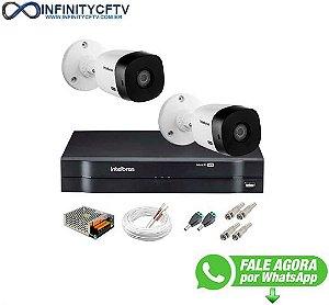 Kit 2 Câmeras Intelbras VHL 1220 B Full HD 1080 Lite + DVR Intelbras - Câmeras com 20m Infravermelho de Visão Noturna - InfinityCftv