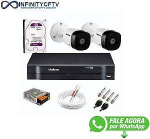 Kit 2 Câmeras de Segurança Full HD 1080p VHD 1220 B G6 + DVR Intelbras MHDX 1104 de 4 Canais 1080p Lite - InfinityCftv