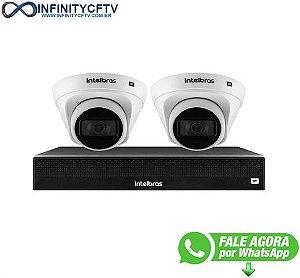 Kit 2 Câmeras de Segurança Dome Intelbras Full HD 1080p VIP 1230 D + NVR 1304 de 4 Canais IP+ App Grátis de Monitoramento - InfinityCftv