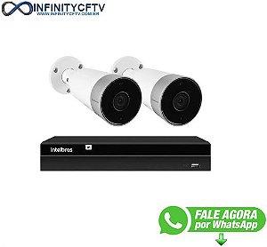 Kit 2 Câmeras Externas Wi-Fi Mibo Full HD 1080p IM5 Intelbras + 1 NVR Stand Alone 04 Canais 6MP NVD 1304 Intelbras - InfinityCftv