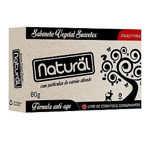 Sabonete Natural Suavetex com Carvão Ativado 80g.