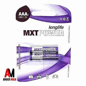 PILHA ALCALINA AAA LR03 MXT – BLISTER COM 2 UNIDADES