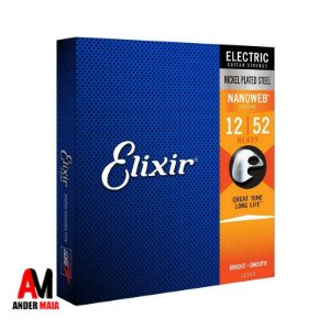 ENCORDOAMENTO ELIXIR P/ GUITARRA 0.012 HEAVY NICKEL PLATED NANOWEB