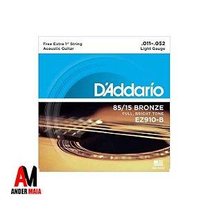 ENCORDOAMENTO DADDARIO 85/15 BRONZE 0.011 PARA VIOLÃO
