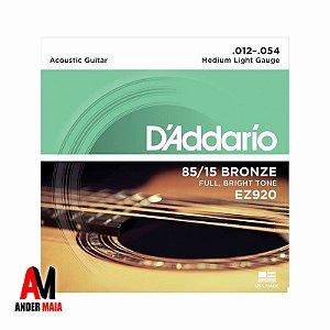 ENCORDOAMENTO DADDARIO 85/15 BRONZE 0.012 PARA VIOLÃO