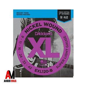 ENCORDOAMENTO DADDARIO P/ GUITARRA 0.009 EXL120-B NICKEL WOUND