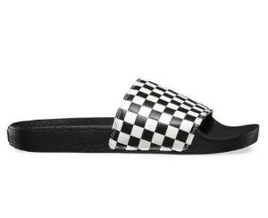 CHINELO VANS SLIDE-ON CHECKERBOARD PRETO/BRANCO XADREZ VNB004KIIP9