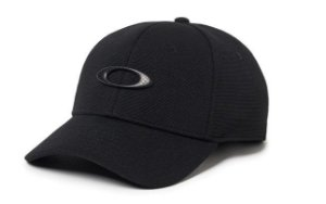 BONÉ OAKLEY ABA CURVA TINCAN CAP BLACK/CARBON FIBER 911545-01W