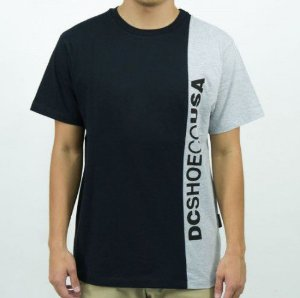 CAMISETA DC SHOES DAGUP TRIPLE BLOCK 4 CINZA MESCLA 61143131