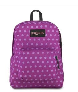 Mochila JanSport Black Label Superbreak - Purple Plum Polka Dot TWK866E