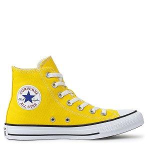 Tênis Converse Chuck Taylor All Star Seasonal Hi Amarelo Preto CT04190052