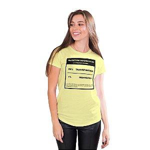 T-Shirt 99% Transpiração 1% Inspiração - Feminina