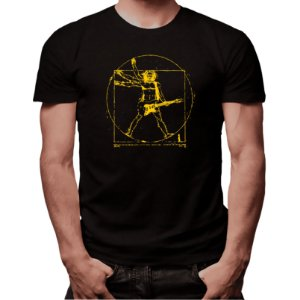 Camiseta Rockeiro Vitruviano - Masculina - PT+BR
