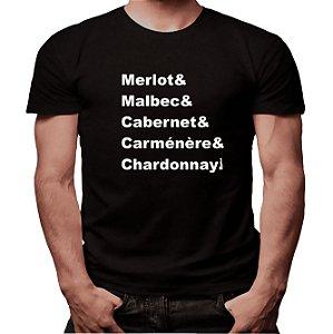 Camiseta Mestre dos Vinhos - Masculina - PT+BR