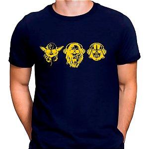 Camiseta Yoda, Chewbacca e Darth Azul.M - Masculina