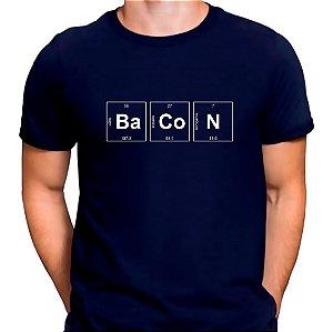 Camiseta Bacon Periódico Azul.M Masculina