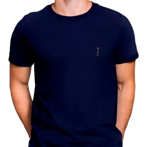 Camiseta Básica Azul.M Masculina
