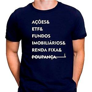 Camiseta Investimentos Azul.M - Masculina