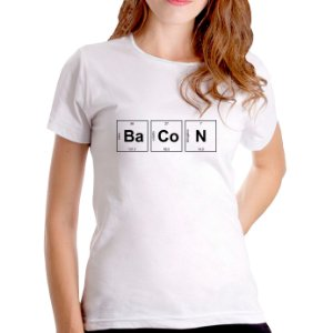 T-Shirt Bacon Periódico - Feminina