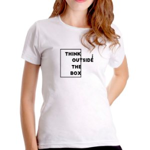 T-Shirt Think Outside The Box - Feminina