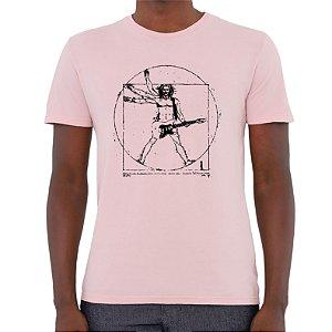 Camiseta Rockeiro Vitruviano - Masculina - AZM+AM+ROSA
