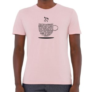 Camiseta Xícara da Positividade - Masculina - AZM+AM+ROSA