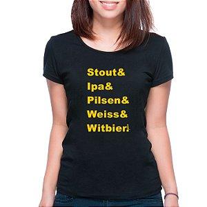 T-Shirt Mestre Cervejeiro - Feminina - PT+BR