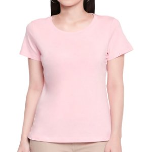 T-Shirt Minimalista Rosa - Feminina