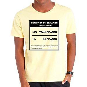 Camiseta 99% Transpiração 1% Inspiração - Masculina - AZM+AM+ROSA