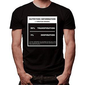 Camiseta 99% Transpiração 1% Inspiração - Masculina - PT+BR