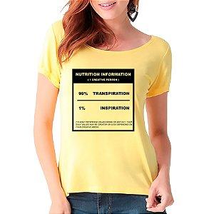 T-Shirt 99% Transpiração 1% Inspiração - Feminina - AM+ROSA