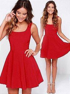 Vestido Regata Vermelho Soltinho Godê