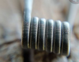 Fused Clapton 26*2/36 Ni80 3mm id 0,16ohms Dual