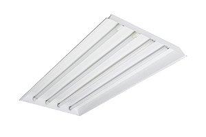 Luminária Comercial 4x18w 1250x625mm p/ Tubular T8  - forro modular
