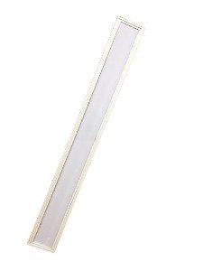Luminária Comercial 2x9w 1250mm T8 c/ Difusor leitoso - forro modular