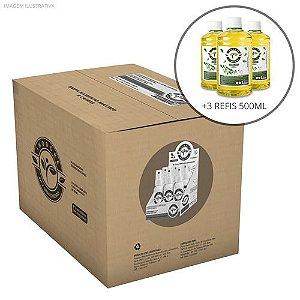 3 Refis Inodore Capim-Limão 500ml + Caixa com 4 Displays Mistos Capim-Limão e Alecrim