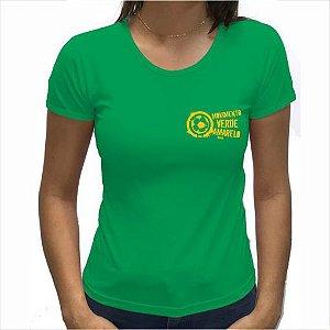 Camiseta Feminina Verde logo pequeno