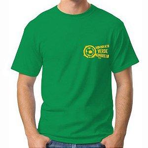 Camiseta Masculina Verde logo pequeno