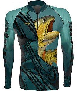 Camiseta Pesca MTK Dourado