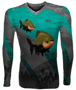 Camiseta Pesca MTK Tamba Verde