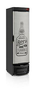 Cervejeira Gelopar GRBA-290E GW/PR Vertical 290L Porta Cega em Inox com Adesivo 220V